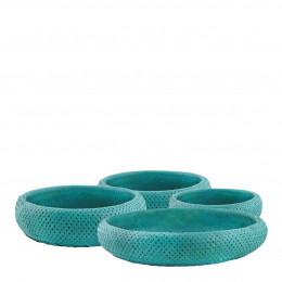 Set de 4 plats KIM turquoise