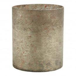 Photophore vase Eden doré antique mat