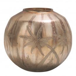Vase Mirage boule rose doré mat