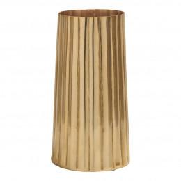 Vase Strié doré
